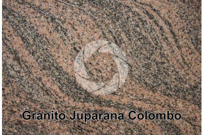 Granito Juparana Colombo. Tamil Nadu. India. Sezione lucida