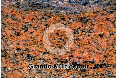 Granito Multicolour. Sezione lucida. 2X