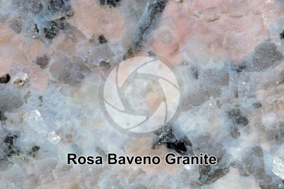 Rosa Baveno Granite. Piedmont. Italy. Polished section. 2X