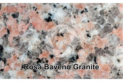 Rosa Baveno Granite. Piedmont. Italy. Polished section. 1X