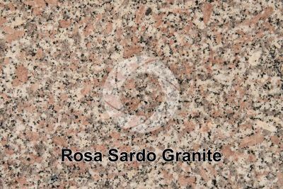 Rosa Sardo Granite. Sardinia. Italy. Polished section