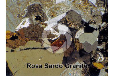 Rosa Sardo Granite. Sardinia. Italy. Thin section in cross polarized light. 32X