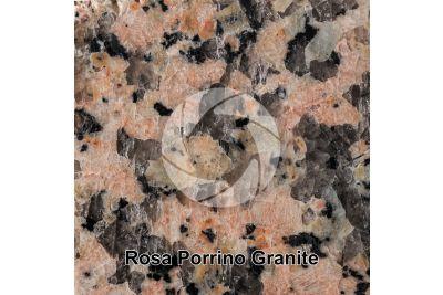 Rosa Porrino Granite. Porrino. Galicia. Spain. Polished section. 1X