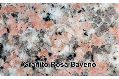 Granito Rosa Baveno. Piemonte. Italia. Sezione lucida. 1X