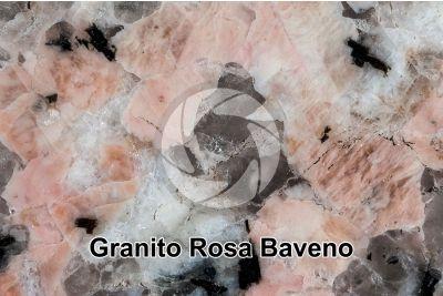 Granito Rosa Baveno. Piemonte. Italia. Sezione lucida. 2X