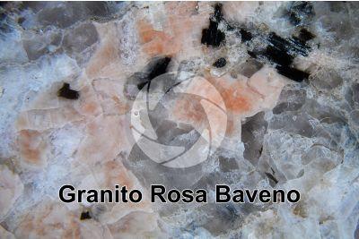 Granito Rosa Baveno. Piemonte. Italia. Sezione lucida. 7X