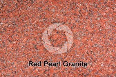 Red Pearl Granite. India. Polished section