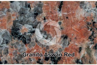 Granito Aswan Red. Egitto. Sezione lucida. 1X