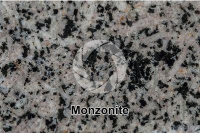 Monzonite. Sezione lucida. 1X