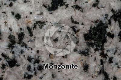 Monzonite. Sezione lucida. 2X