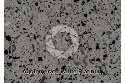 Agglomerato artificiale. White Platinum. Sezione lucida. 1X