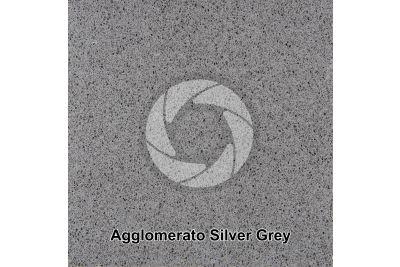 Agglomerato artificiale. Silver Grey. Sezione lucida. 1X