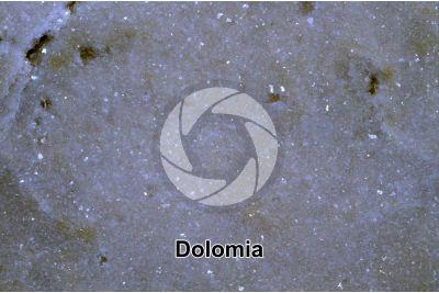 Dolomia. Sezione lucida. 2X