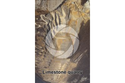 Limestone. Quarry. Zogno. Lombardy. Italy