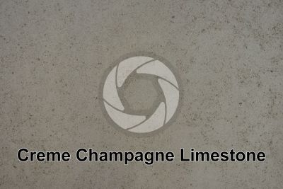 Creme Champagne Limestone. Portugal. Polished section