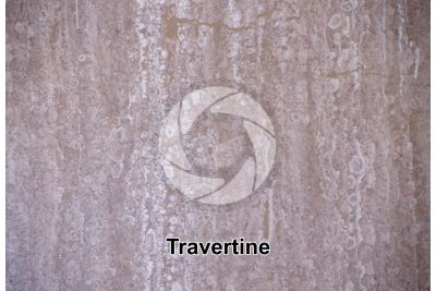 Travertine. Polished section