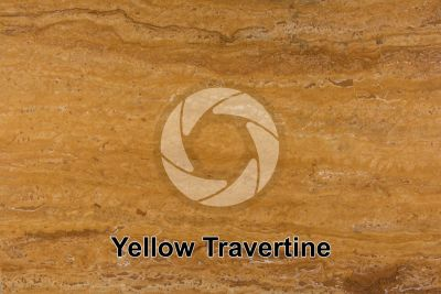 Yellow Travertine. Tuscany. Italy. Polished section