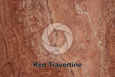Red Travertine. Andalusia. Spain. Polished section