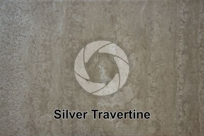 Silver Travertine. Tuscany. Italy. Polished section