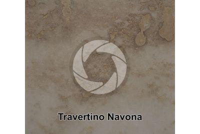 Travertino Navona. Lazio. Italia. Sezione lucida. 1X