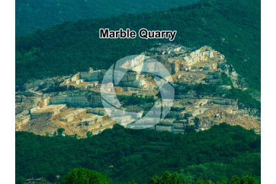 Marble. Quarry. Botticino. Lombardy. Italy