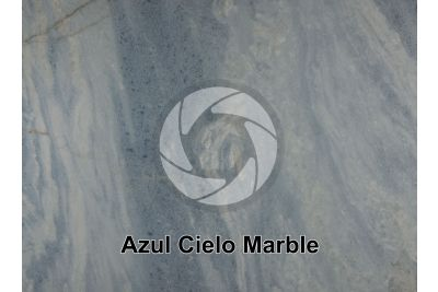 Azul Cielo Marble. Cordoba. Argentina. Polished section
