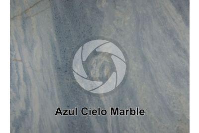Azul Cielo Marble. Cordoba. Argentina. Polished section