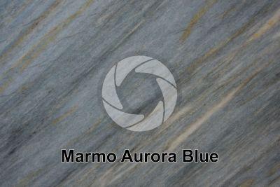 Marmo Aurora Blue. Brasile. Sezione lucida