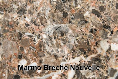 Marmo Breche Nouvelle. Lapalme. Francia. Sezione lucida