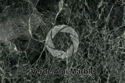 Verde Alpi Marble. Aosta. Italy. Polished section