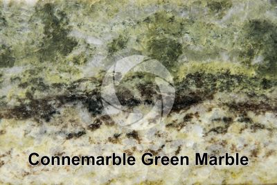 Connemarble Green Marble. Derryclare. Ireland. Polished section