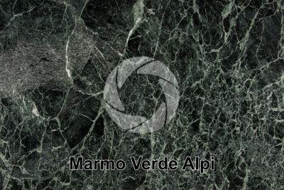Marmo Verde Alpi. Aosta. Italia. Sezione lucida