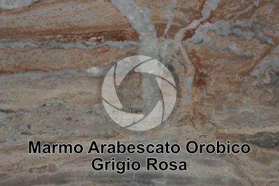 Marmo Arabescato Orobico Grigio Rosa. Bergamo. Lombardia. Italia. Sezione lucida
