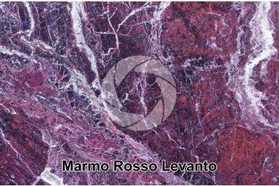 Marmo Rosso Levanto. Liguria. Italia