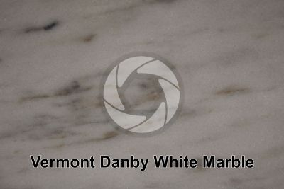 Vermont Danby White Marble. Vermont. USA. Polished section