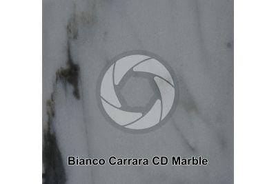 Bianco Carrara CD Marble. Tuscany. Italy. Polished section. 1X