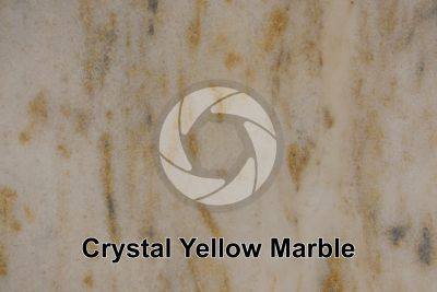 Crystal Yellow Marble. Brazil. Polished section