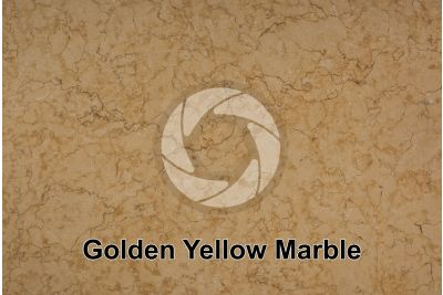 Golden Yellow Marble. Sinai. Egypt. Polished section