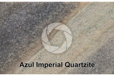 Azul Imperial Quartzite. Brazil. Polished section