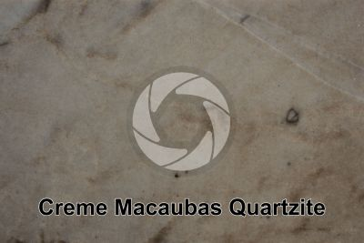 Creme Macaubas Quartzite. Brazil. Polished section