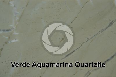 Verde Aquamarina Quartzite. Brazil. Polished section
