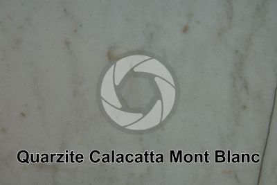 Quarzite Calacatta Mont Blanc. Italia. Sezione lucida