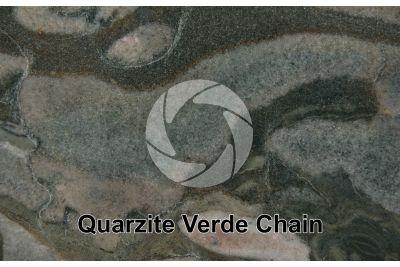 Quarzite Verde Chain. Brasile. Sezione lucida