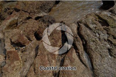 Coastal erosion. Tenerife. Canary Islands. Spain