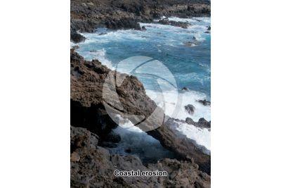 Coastal erosion. La Palma. Canary Islands. Spain
