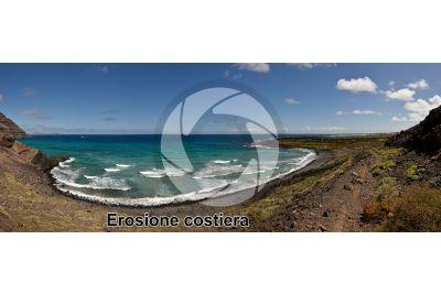 Erosione costiera. Gran Canaria. Isole Canarie. Spagna