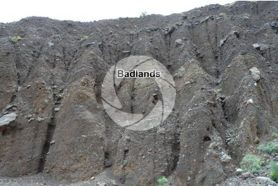 Badland. Anaga. Tenerife. Canary Islands. Spain
