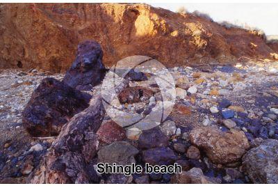 Shingle beach. Terra Nera. Elba. Tuscany. Italy