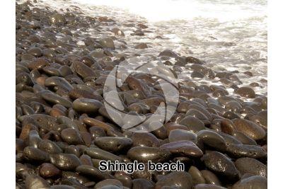 Shingle beach. Canary Islands. Spain