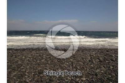 Shingle beach. Tenerife. Canary Islands. Spain